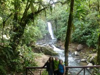 Autor mit Eltern in den La Paz Waterfall Gardens