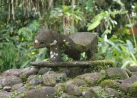 Skulptur im Centro Neotrópico SarapiquíS