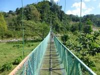 Hängebrücke über den Rio Grande de Orosi