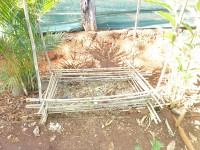 Kompost im Aufbau